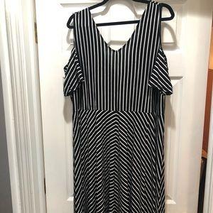 Cute Lane Bryant stripe cut out dress- 22/24